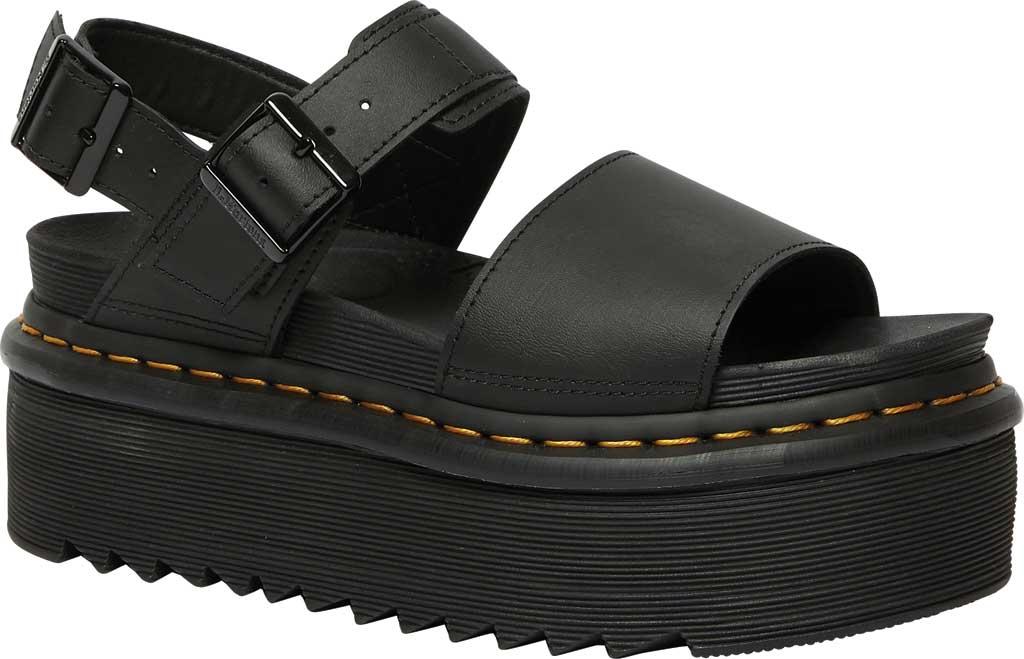 Women's Dr. Martens Voss Quad Sandal, Black Hydro Leather, large, image 1