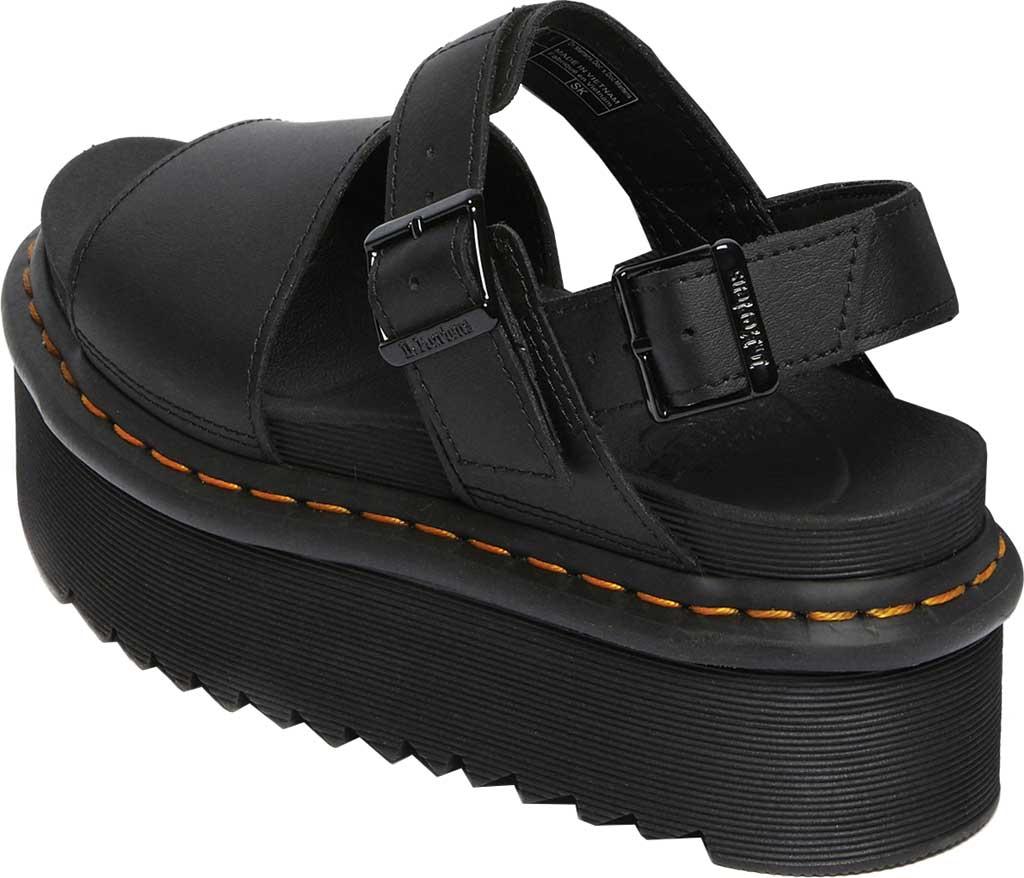 Women's Dr. Martens Voss Quad Sandal, Black Hydro Leather, large, image 3