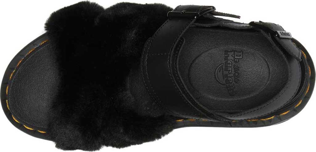 Women's Dr. Martens Voss II Fluffy Sandal, Black Milo Fur/Hydro Leather, large, image 4