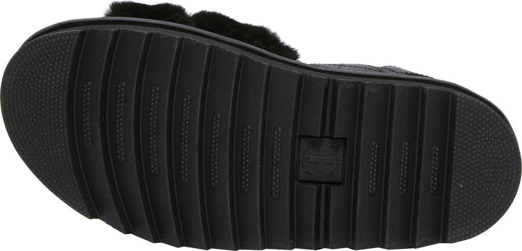 Women's Dr. Martens Voss II Fluffy Sandal, Black Milo Fur/Hydro Leather, large, image 5