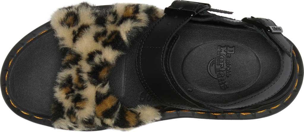 Women's Dr. Martens Voss II Fluffy Sandal, Tan/Black Leopard Faux Fur/Hydro Leather, large, image 4