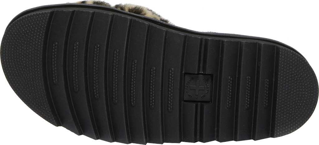 Women's Dr. Martens Voss II Fluffy Sandal, Tan/Black Leopard Faux Fur/Hydro Leather, large, image 5