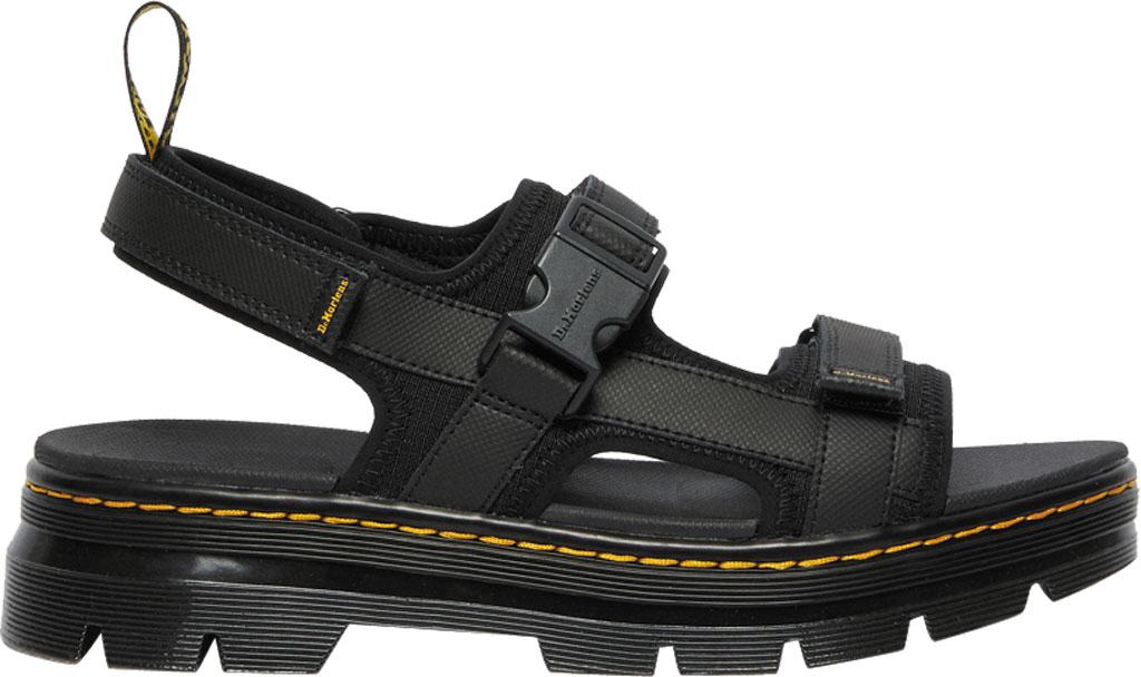 Dr. Martens Forster Sandal, Black Rip Stop Polyester/Element Split Leather, large, image 2