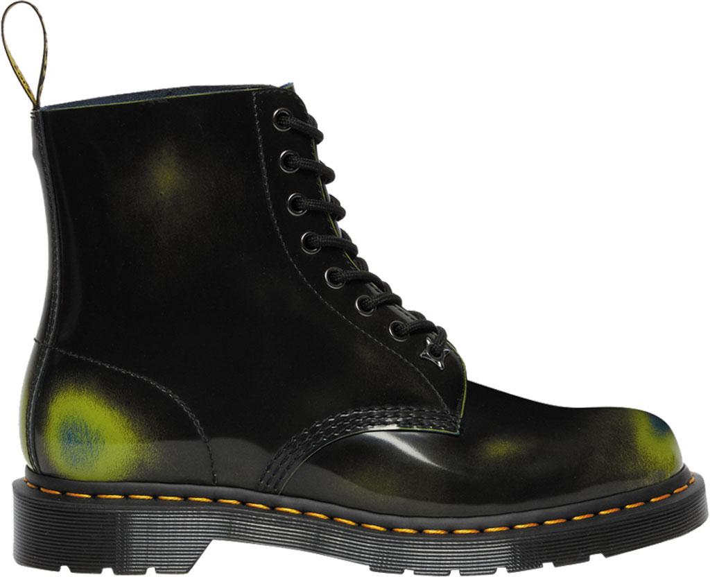 Dr. Martens 1460 Pascal Multi Arcadia 8 Eye Boot, Black/Marsh Green/Dark Teal Multi Arcadia Leather, large, image 2