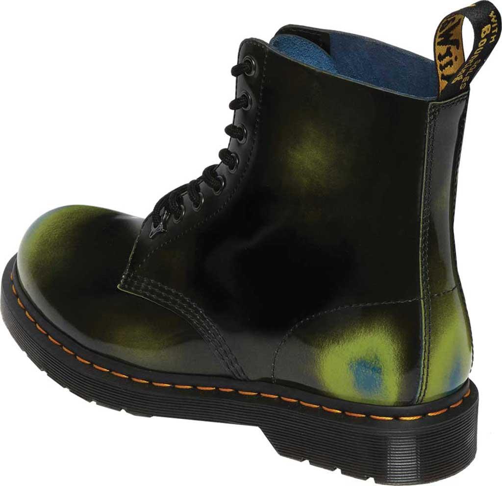Dr. Martens 1460 Pascal Multi Arcadia 8 Eye Boot, Black/Marsh Green/Dark Teal Multi Arcadia Leather, large, image 3