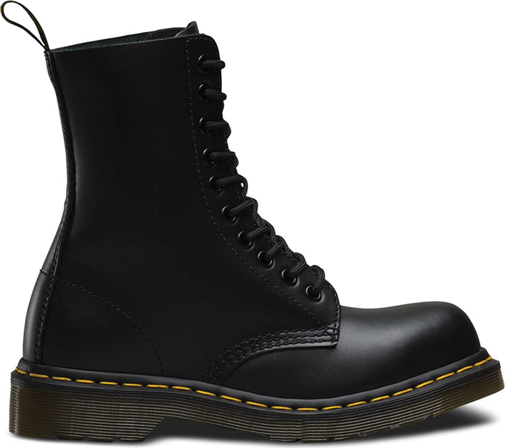Dr. Martens 1919 10-Eye Steel Toe Boot, Black Fine Haircell, large, image 2