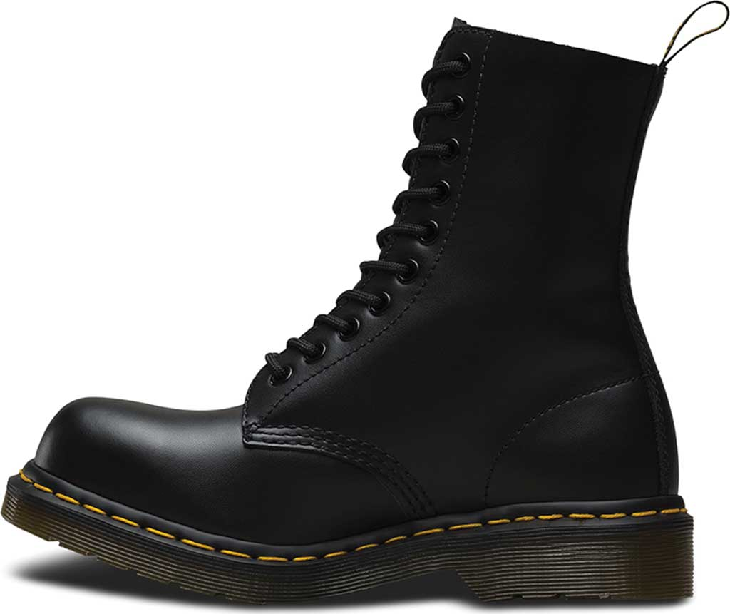 Dr. Martens 1919 10-Eye Steel Toe Boot, Black Fine Haircell, large, image 3