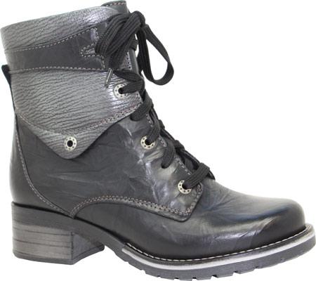 Women's Dromedaris Kara Metallic Boot, Black Leather, large, image 1