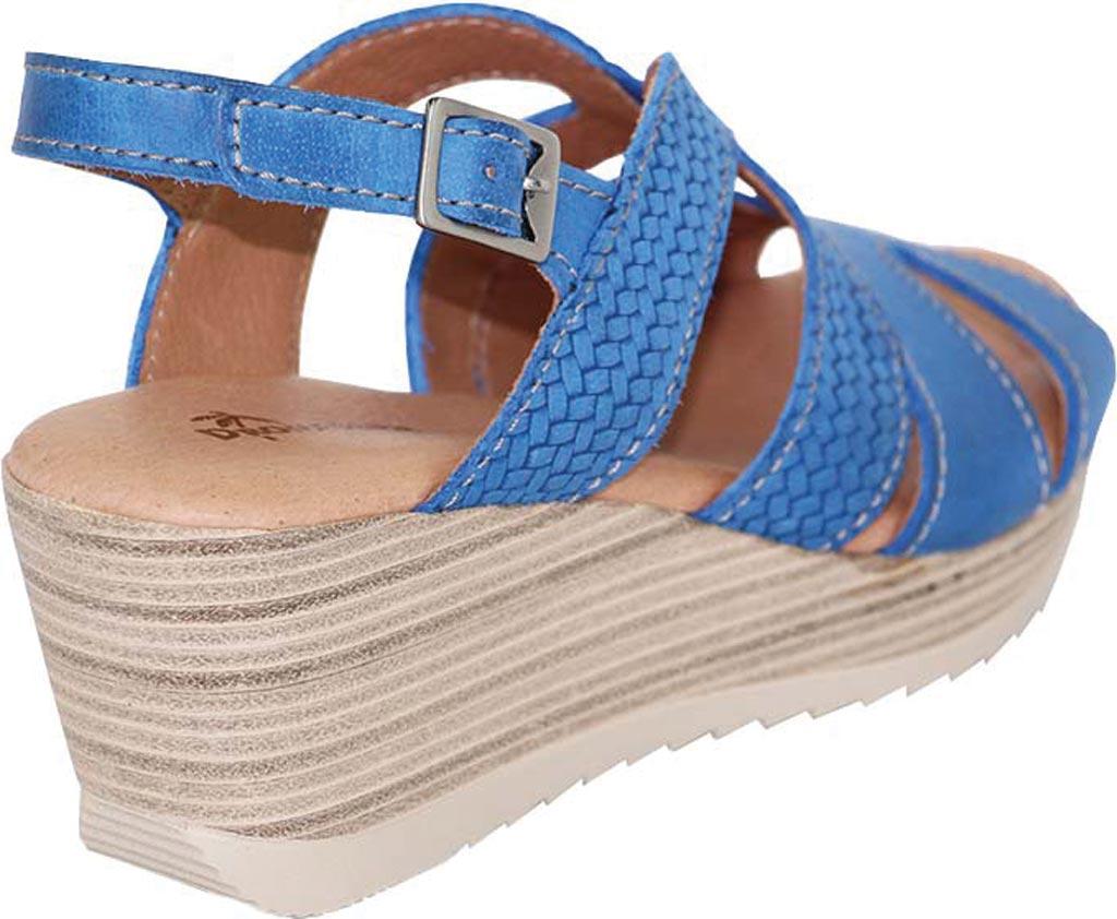 Women's Dromedaris Lauren Slingback Sandal, Cobalt Waxed Leather, large, image 3