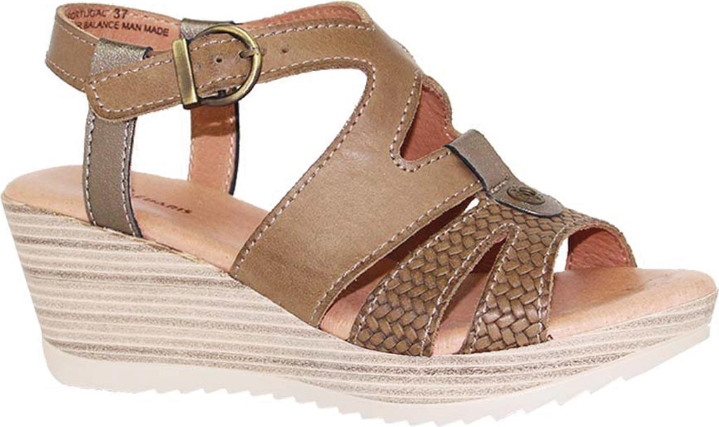 Women's Dromedaris Liz Ankle Strap Sandal, Olive Waxed Leather, large, image 1