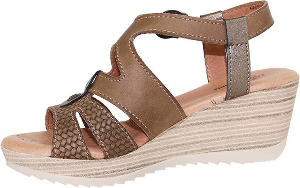 Women's Dromedaris Liz Ankle Strap Sandal, Olive Waxed Leather, large, image 2