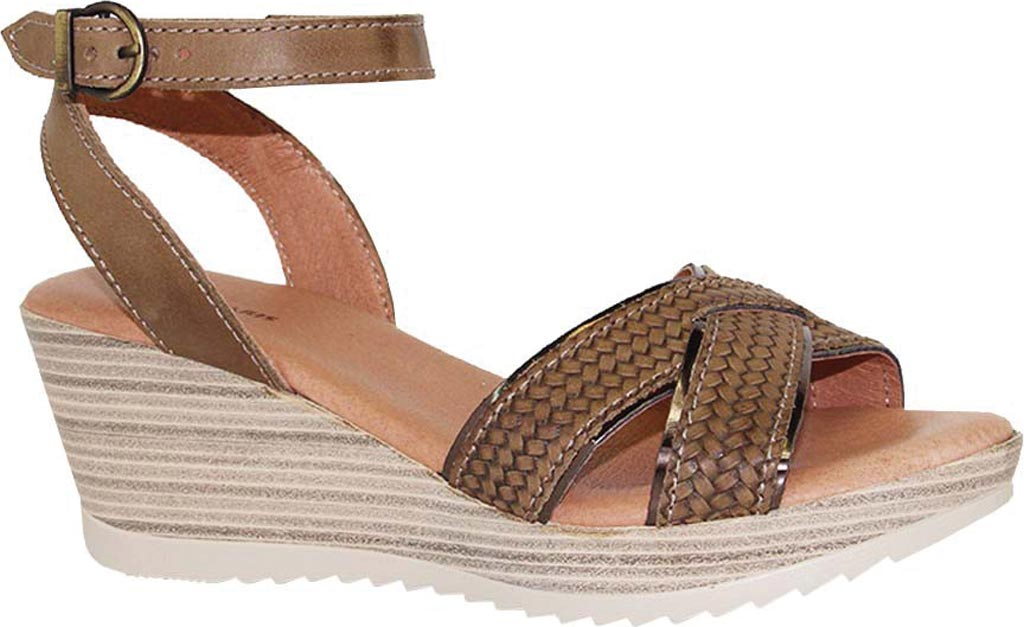 Women's Dromedaris Lucy Quarter Strap Sandal, Olive Waxed Leather, large, image 1