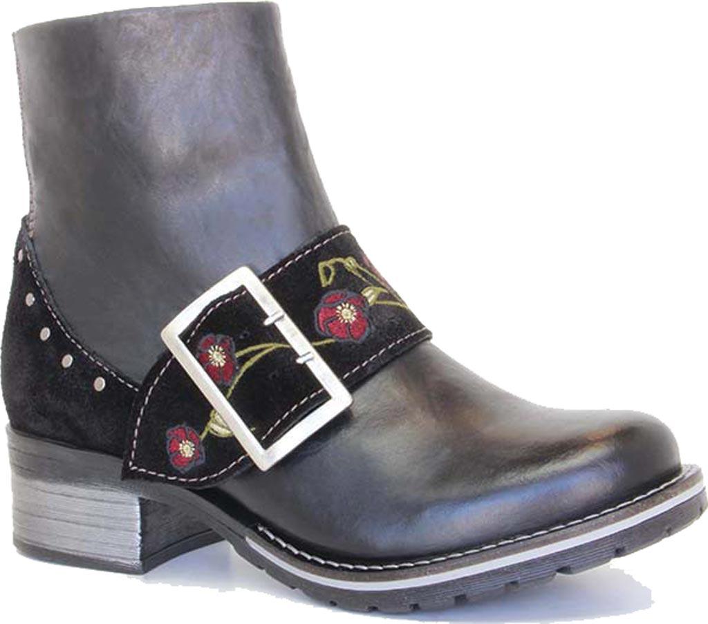 Women's Dromedaris Kamilah Short Ankle Boot, Black Leather, large, image 1