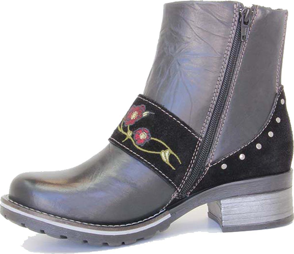 Women's Dromedaris Kamilah Short Ankle Boot, Black Leather, large, image 2