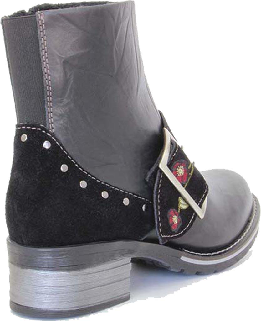 Women's Dromedaris Kamilah Short Ankle Boot, Black Leather, large, image 3