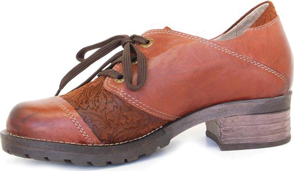 Women's Dromedaris Kalista Oxford, Cognac Leather, large, image 2