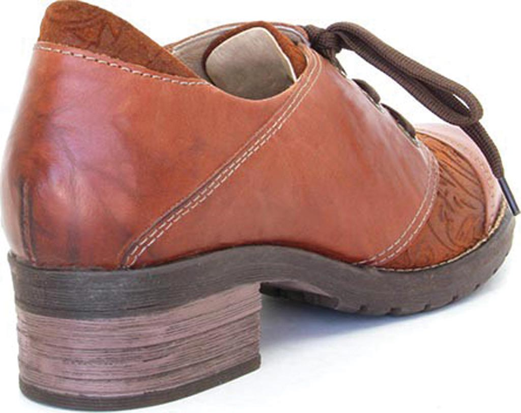 Women's Dromedaris Kalista Oxford, Cognac Leather, large, image 3