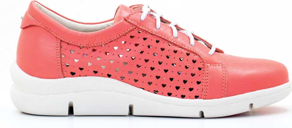 Women's Dromedaris Vivian Lace Up Sneaker, Coral Leather, large, image 2
