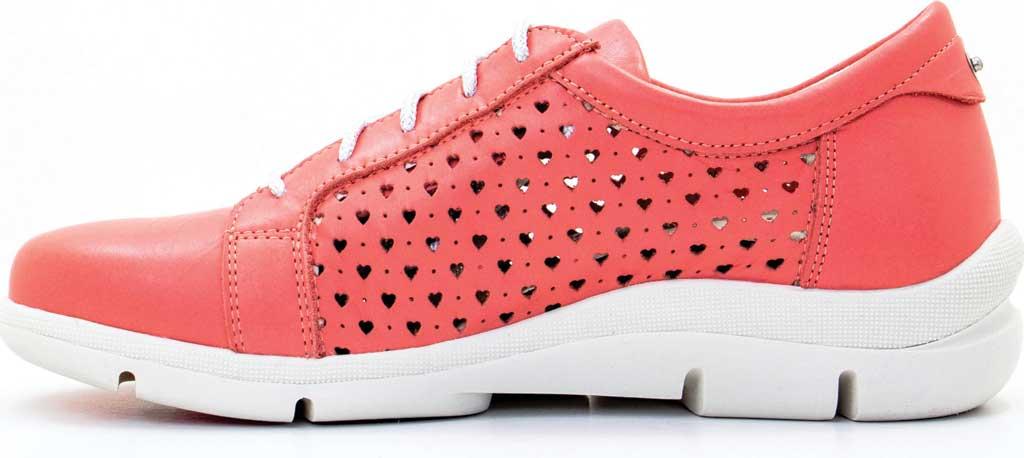Women's Dromedaris Vivian Lace Up Sneaker, Coral Leather, large, image 3