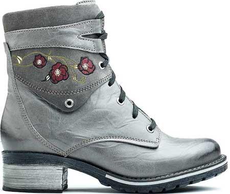 Women's Dromedaris Kara Embroidery Ankle Boot, Slate Leather, large, image 1