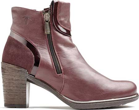 Women's Dromedaris Ginger Ankle Bootie, Wine Leather, large, image 1