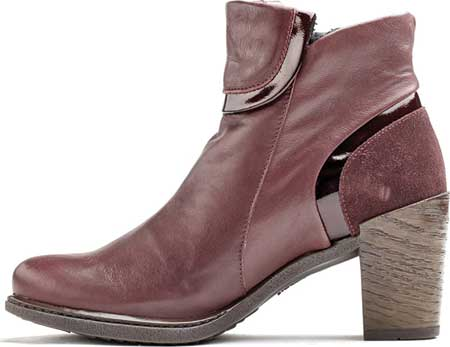 Women's Dromedaris Ginger Ankle Bootie, Wine Leather, large, image 2