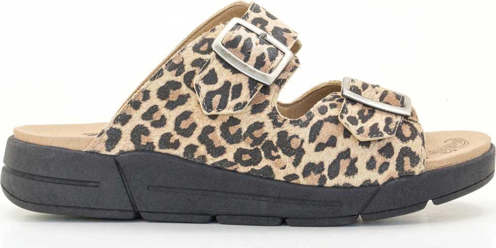 Women's Dromedaris Terry Slide, Leopard Suede, large, image 2