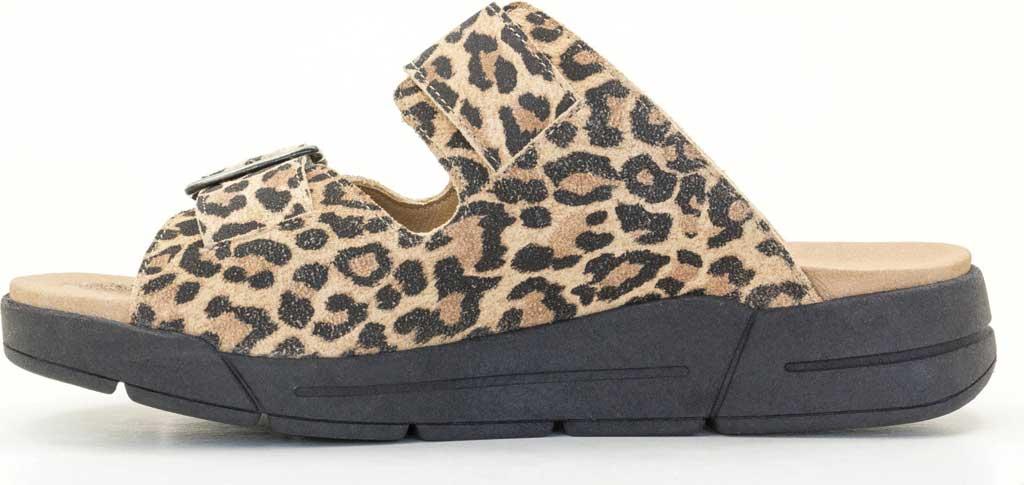 Women's Dromedaris Terry Slide, Leopard Suede, large, image 3