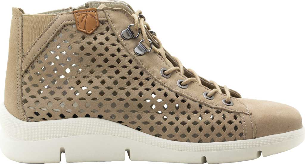 Women's Dromedaris Victoria Perforated High Top Sneaker, Taupe Leather, large, image 2
