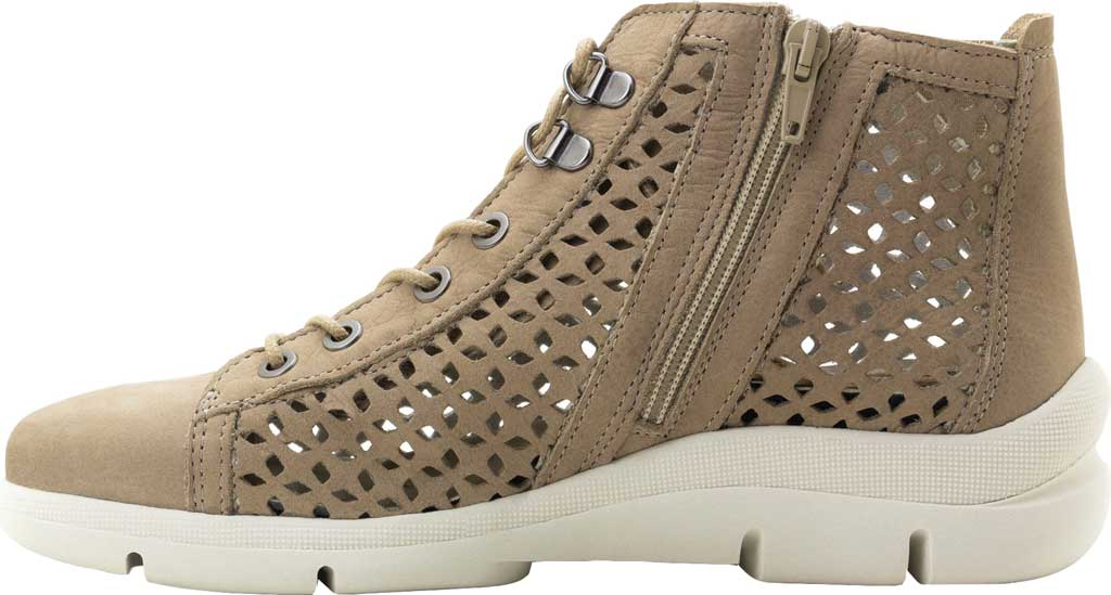 Women's Dromedaris Victoria Perforated High Top Sneaker, Taupe Leather, large, image 3