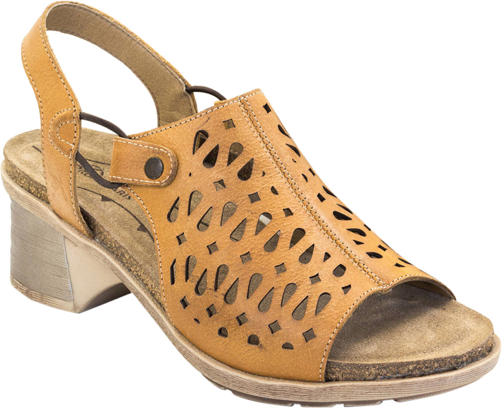 Women's Dromedaris Stevie Perforated Slingback Sandal, Sunflower Brushed Leather, large, image 1