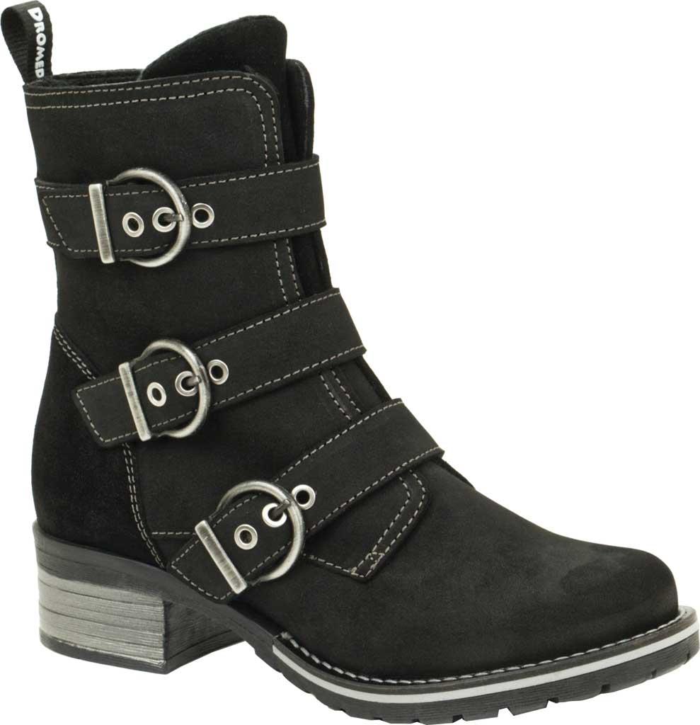 Women's Dromedaris Klara Ankle Boot, Black Suede, large, image 1