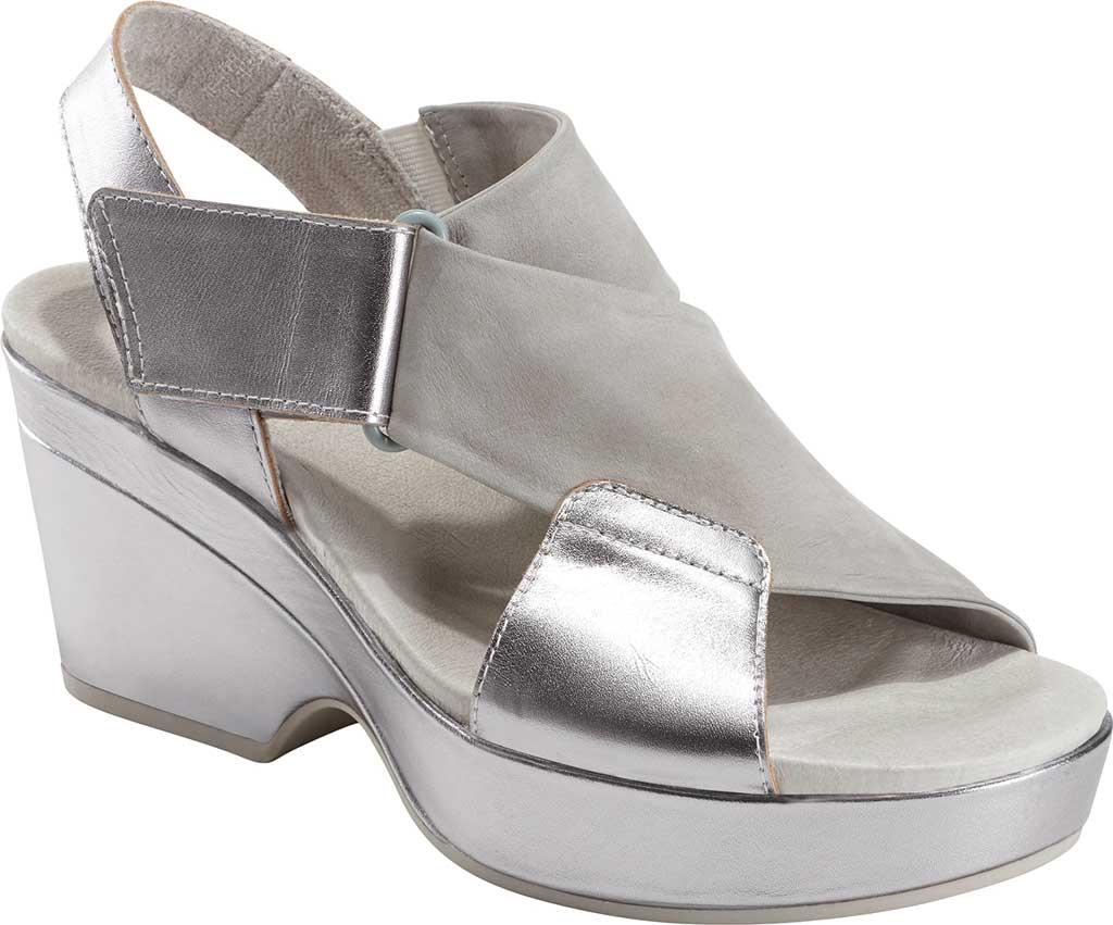 Women's Earth Khaya Kendi Slingback Sandal, Nickel Metallic Leather, large, image 1