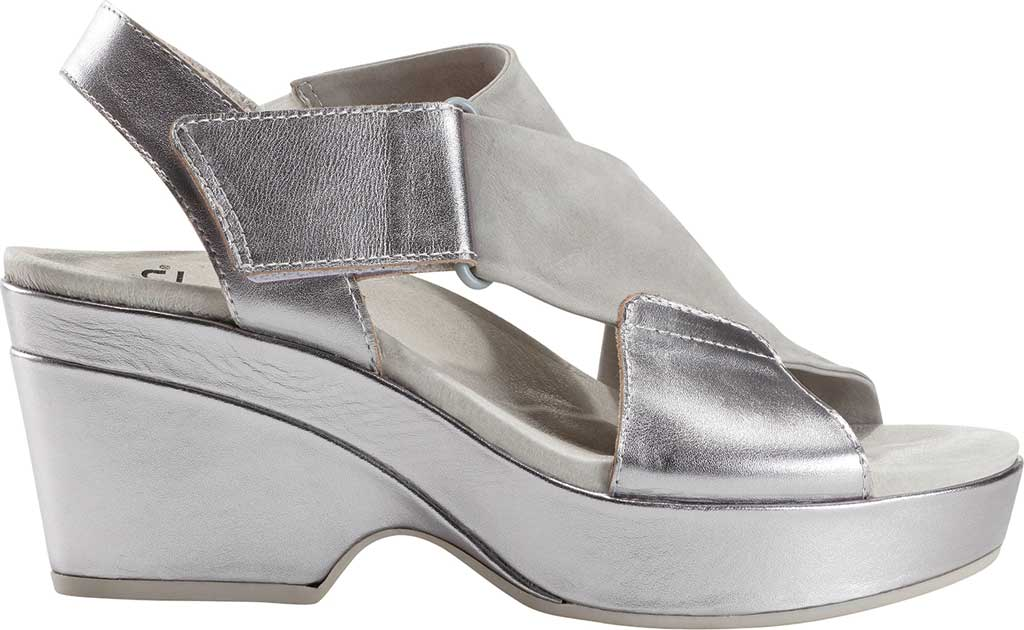 Women's Earth Khaya Kendi Slingback Sandal, Nickel Metallic Leather, large, image 2