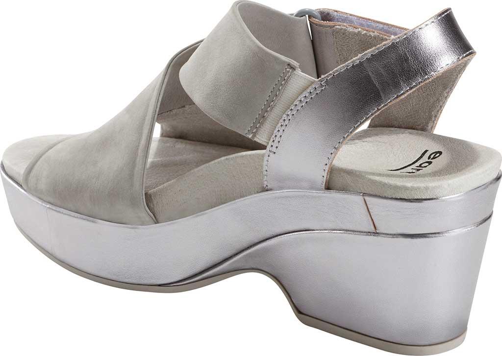 Women's Earth Khaya Kendi Slingback Sandal, Nickel Metallic Leather, large, image 3