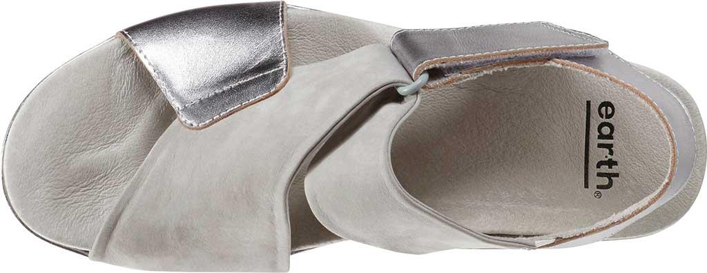 Women's Earth Khaya Kendi Slingback Sandal, Nickel Metallic Leather, large, image 4