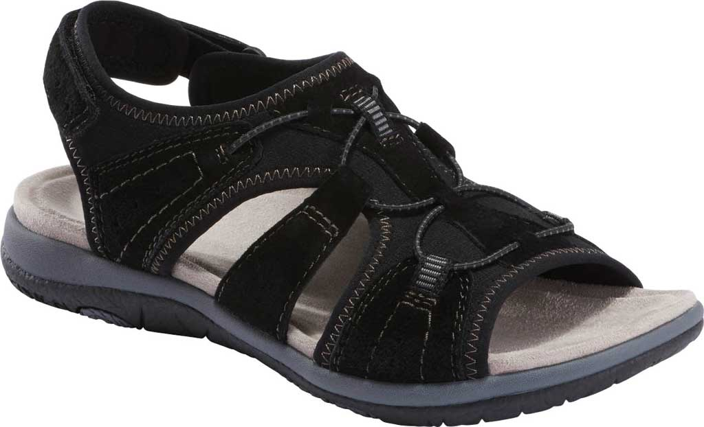 Women's Earth Origins Savoy Siena Slingback Sandal, Black Chrome Free Pig Suede, large, image 1