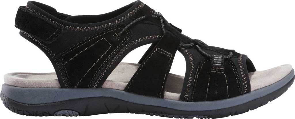 Women's Earth Origins Savoy Siena Slingback Sandal, Black Chrome Free Pig Suede, large, image 2