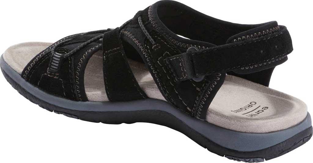 Women's Earth Origins Savoy Siena Slingback Sandal, Black Chrome Free Pig Suede, large, image 3