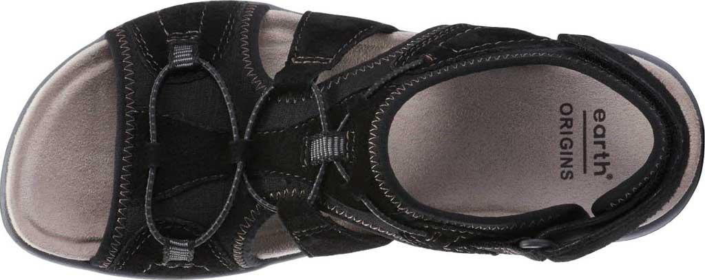 Women's Earth Origins Savoy Siena Slingback Sandal, Black Chrome Free Pig Suede, large, image 4