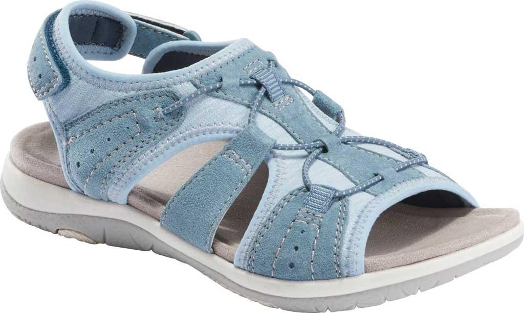 Women's Earth Origins Savoy Siena Slingback Sandal, Moroccan Blue Chrome Free Pig Suede, large, image 1