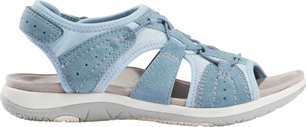 Women's Earth Origins Savoy Siena Slingback Sandal, Moroccan Blue Chrome Free Pig Suede, large, image 2