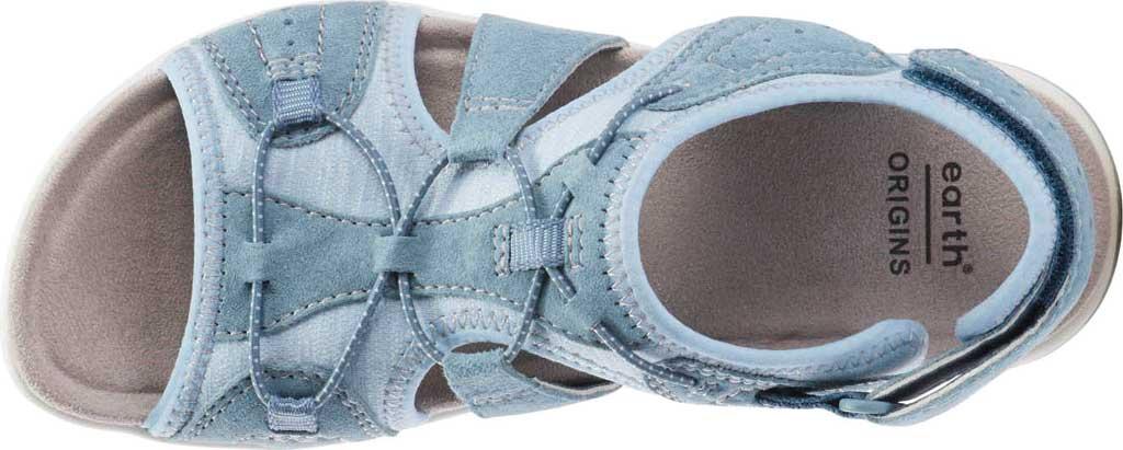 Women's Earth Origins Savoy Siena Slingback Sandal, Moroccan Blue Chrome Free Pig Suede, large, image 4