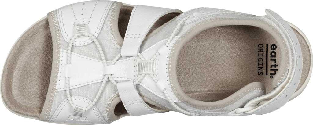 Women's Earth Origins Savoy Siena Slingback Sandal, White Pig Skin Leather, large, image 4