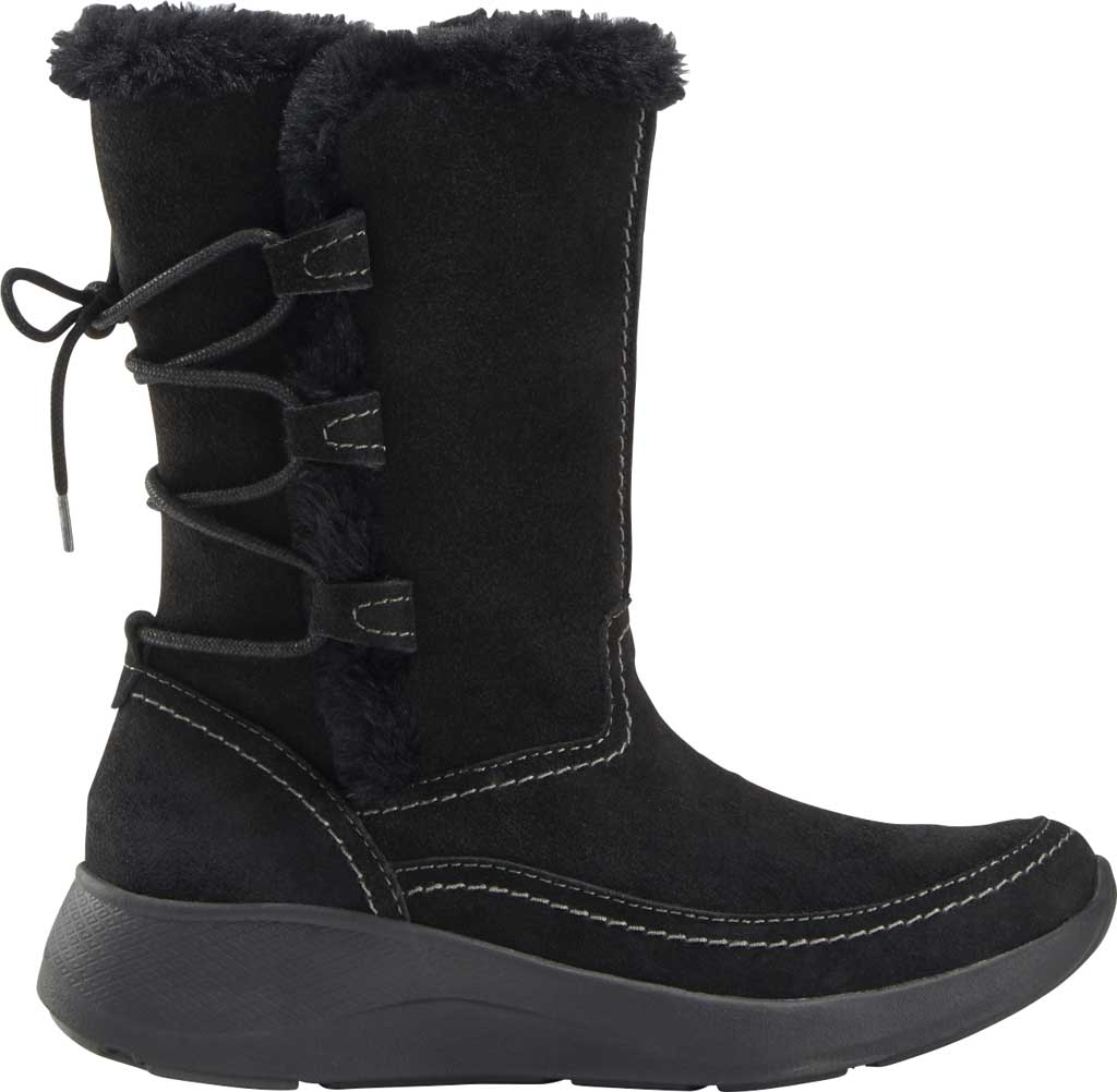 Women's Earth Origins Drift Delaney Mid Calf Boot, Black Water Resistant Suede Eco, large, image 2