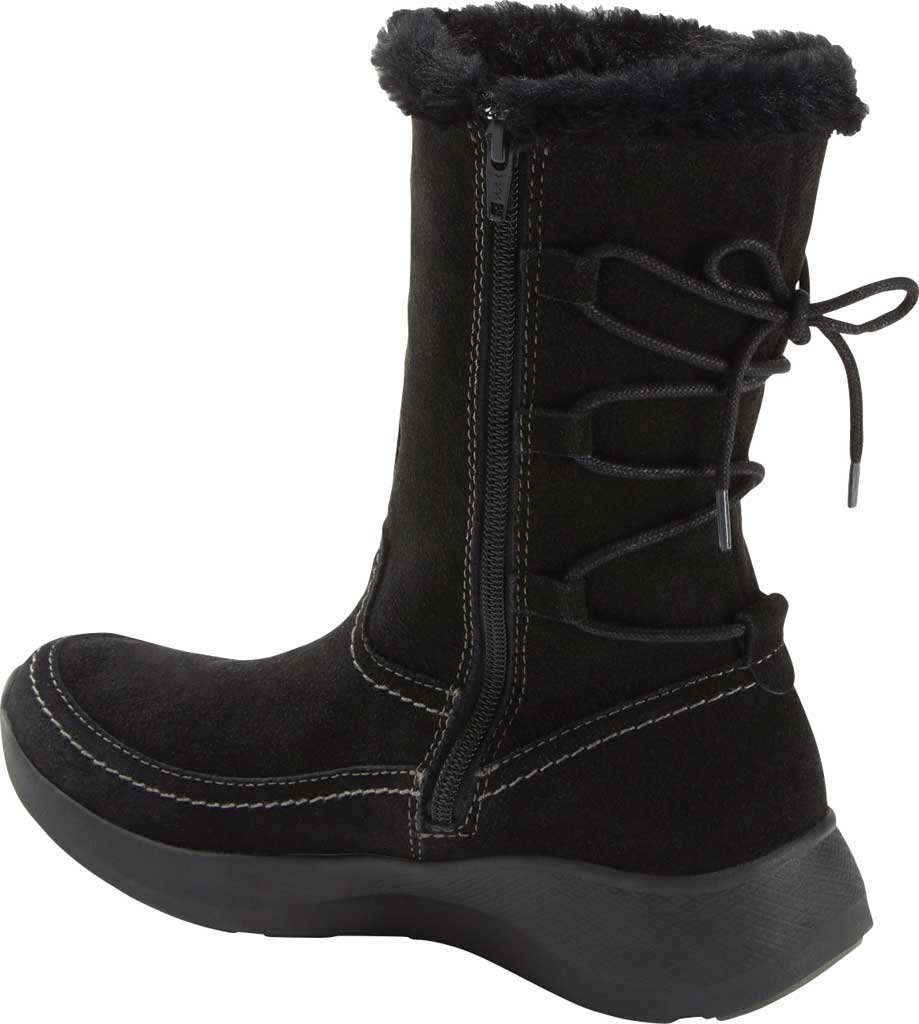 Women's Earth Origins Drift Delaney Mid Calf Boot, Black Water Resistant Suede Eco, large, image 3