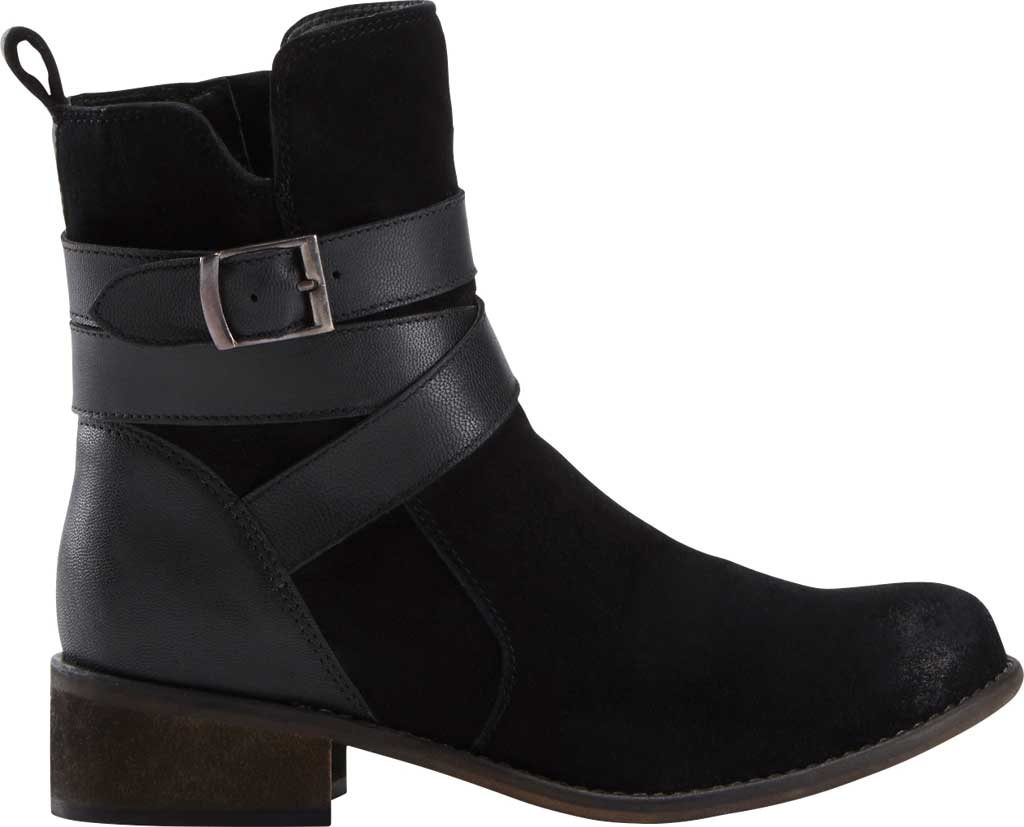 Women's Earth Woodland Hayley Ankle Bootie, Black Waxed Suede, large, image 2