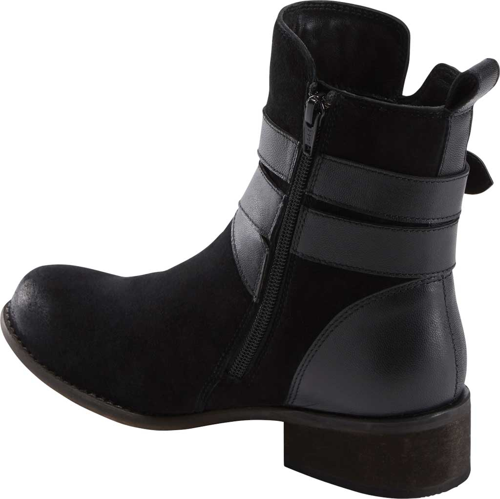 Women's Earth Woodland Hayley Ankle Bootie, Black Waxed Suede, large, image 3