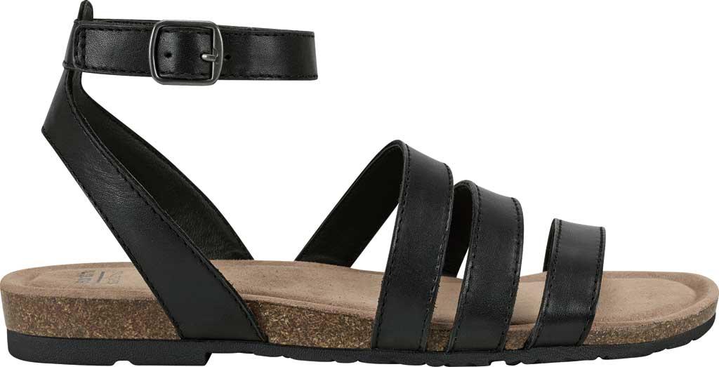 Women's Earth Origins Leesa Ankle Strap Sandal, Black Eco Calf Leather, large, image 2