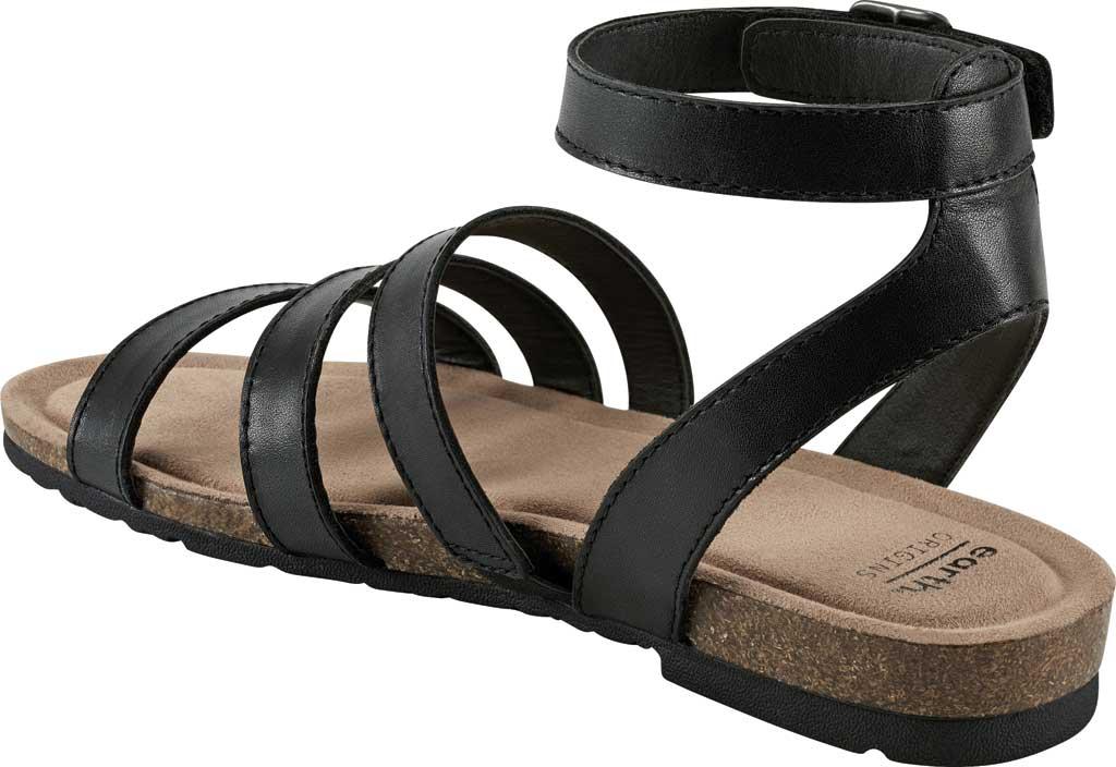 Women's Earth Origins Leesa Ankle Strap Sandal, Black Eco Calf Leather, large, image 3